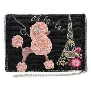 Mary Frances Oh La La Pink Poodle Bag